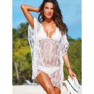 Victoria's Secret Crochet Cover Up swim size M/L